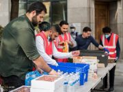 Photos: 'Who is Hussain?' volunteers in London distributed 100 hygiene kits, food parcels to people in need