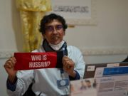 """Photos: """"Who is Hussain?"""" blood donation campaign in France"""