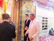 """السفير الهولندي بالعراق يزور كربلاء ويؤكد: """"الإمام الحسين رمز الحرية في العالم"""""""